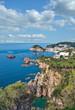 der beliebte Badeort Tossa de Mar an der Costa Brava,Katalonien,Mittelmeer,Spanien