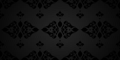 Arabesque, motif floral, arrière plan élégant.