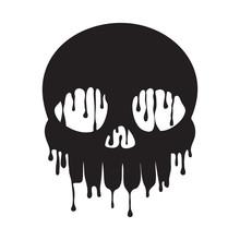 Dripping Black Skull