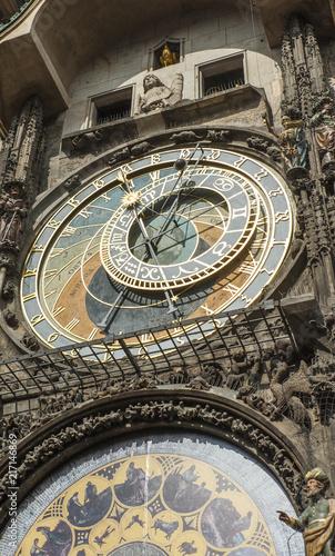 Staande foto Praag closeup of Astronomical Clock in Prague