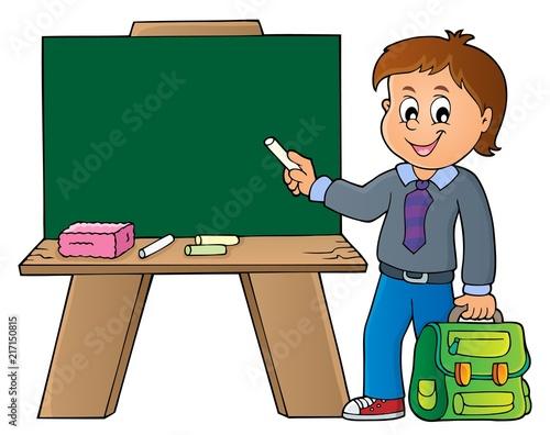 Poster Voor kinderen Happy pupil boy theme image 8