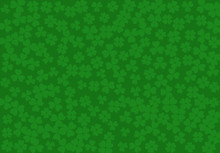 Vector Background Clover Leaves, St Patricks Day