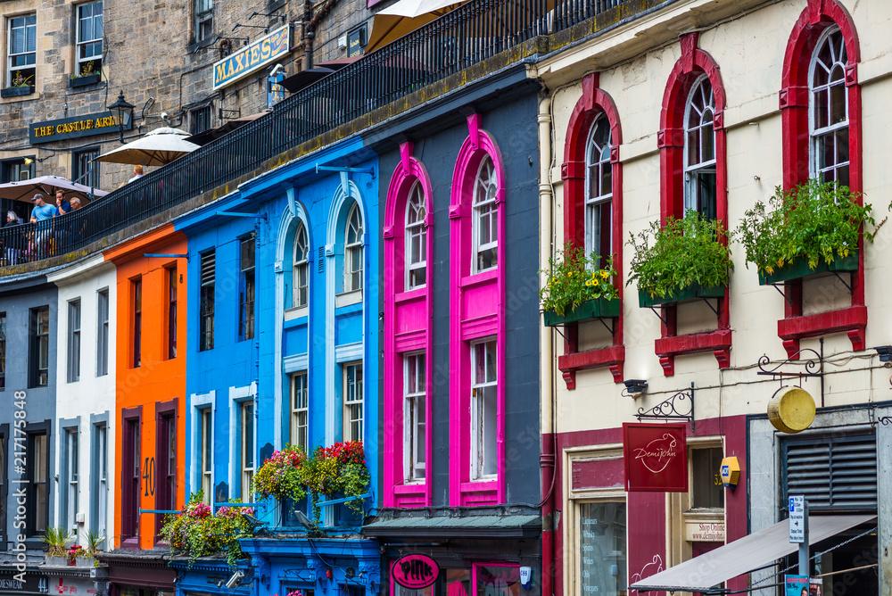 Fototapety, obrazy: Busy Streets of Edinburgh, Scotland, UK