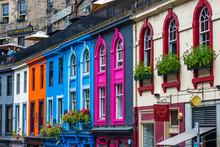 Colorful Houses In Edinburgh, ...