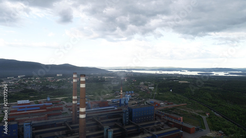 Poster London Aluminum Metallurgical Plant Aerial View