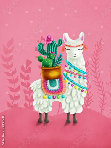 Photo Cute llama