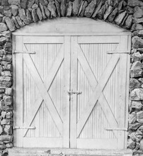 Black And White Barn Door