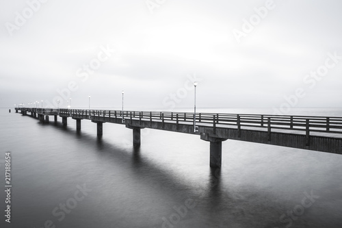 Pier over the Baltic coast