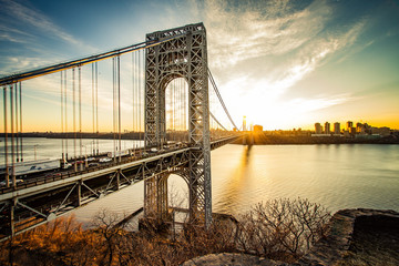 Fototapeta Nowy York George Washington Bridge Sunrise