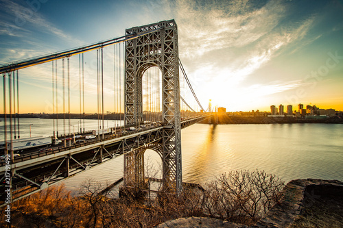 Valokuvatapetti George Washington Bridge Sunrise