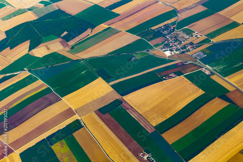 Wall Murals Air photo Arial Photo of Colorful Fields