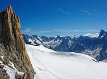 Landscape During The Ascent To Aiguille Du Midi