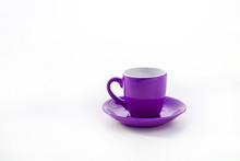 Cup And Saucer Isolated On Whi...