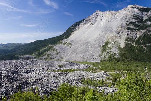 Frank Slide Mountain Landslide Alberta Wallpaper Mural