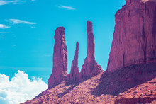 Three Sisters At Monument Valley