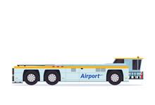 Modern Pushback Truck Airport ...