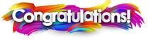 Congratulations Paper Banner W...