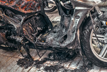 Motorcycle Destroyed In Fire Due To Electrical And Battery Problems