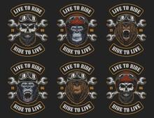 Set Of Biker Emblems