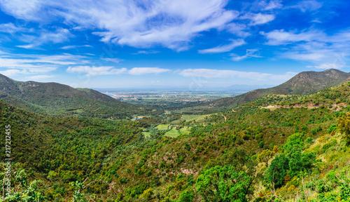 Scenic mountain landscape view in Pyrenees, near of Cadaques, Catalonia, Spain near of Barcelona, famous tourist destination in Costa Brava with Salvador Dali landmark