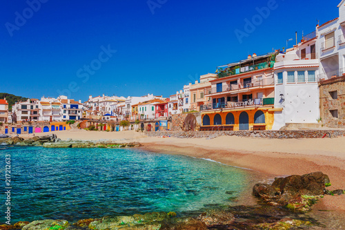 Photo  Sea landscape with Calella de Palafrugell, Catalonia, Spain near of Barcelona