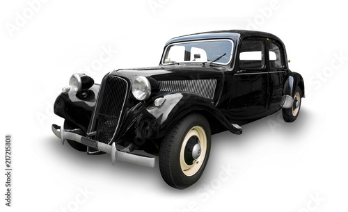 Foto op Canvas Vintage cars old car Traction Avant isolated