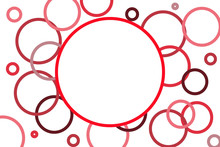 Abstract Background Made From Random  Red Circles