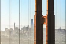 Hazy Sunrise City By The Bay - San Francisco And The Golden Gate Bridge