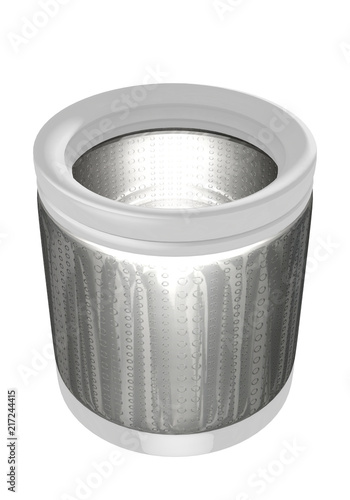 Obraz na plátně  3D illustration of  washing machine tub