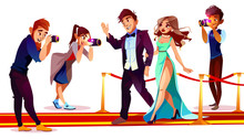 Vector Cartoon Couple Of Famou...