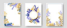 Vector Invitation Cards With H...