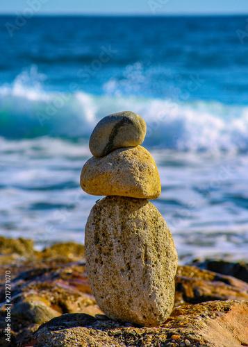 Photo sur Plexiglas Zen pierres a sable Zen Stone Cairn