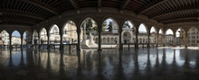 Panoramic Image Of The Loggia Del Lionello In Udine
