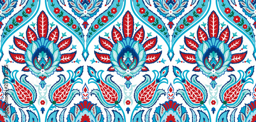 Vector seamless colorful pattern in turkish style Canvas Print