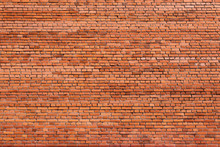 Red Brick Wall Of An Old Building, Background Texture Of A Brick
