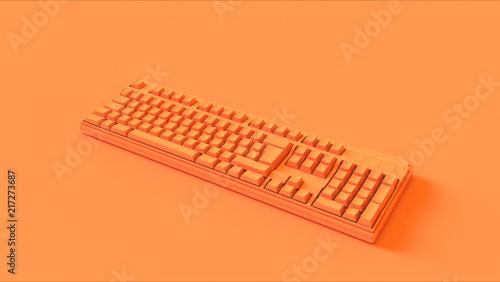 Fotografie, Obraz  Orange Computer keyboard 3d illustration 3d render