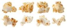 Set With Tasty Popcorn On White Background