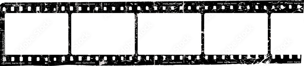 Fototapety, obrazy: grungy film strip, blank photo frames, free space for pictures,vector,fictional artwork