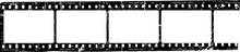 Grungy Film Strip, Blank Photo...