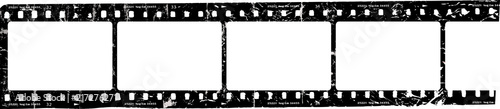 Fototapeta grungy film strip, blank photo frames, free space for pictures,vector,fictional artwork  obraz