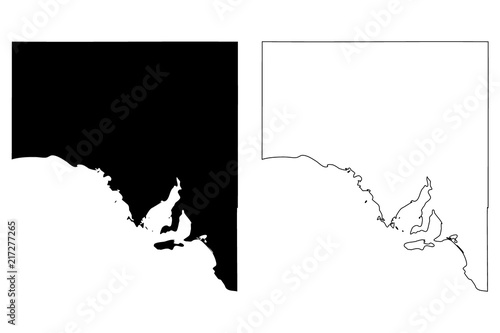 Australia Map Vector.South Australia Australian States And Territories Sa Map Vector