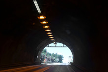 Blurred Motion Background Of Road Tunnel In Norway
