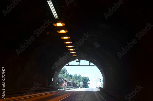 Papiers peints Tunnel Blurred motion background of road tunnel in Norway