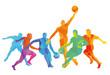 Basketballspieler beim Spiel, illustration
