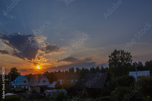Photo Stands Kiev Country sunset