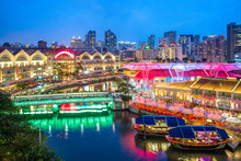 Aerial View Of Clarke Quay In ...