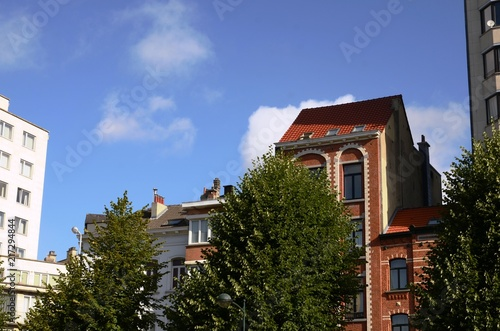 Foto op Canvas Brussel Bruxelles : Square Marguerite (Belgique)