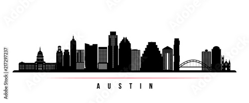 Photo Austin city skyline horizontal banner