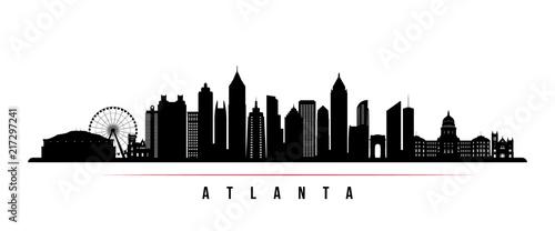 Atlanta city skyline horizontal banner Wallpaper Mural