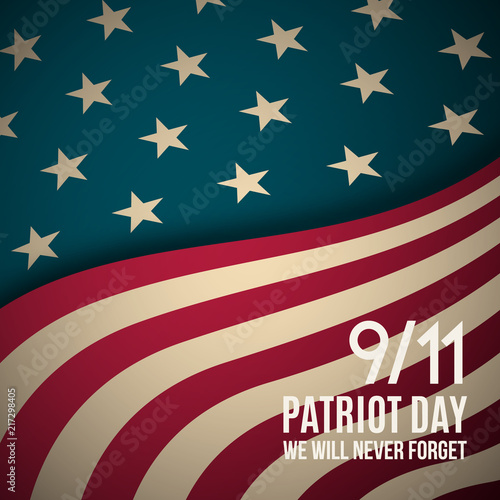 9/11 Patriot Day background Poster